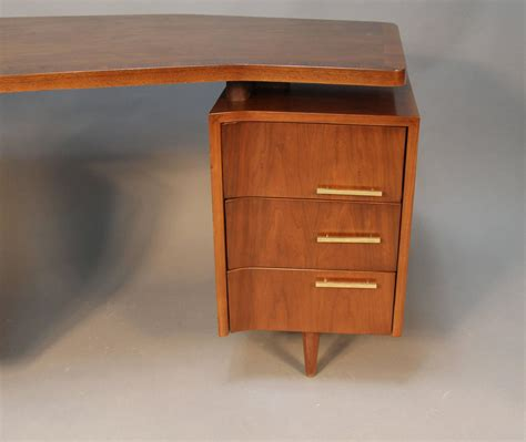 Desk Hardware by Mid Century Floating Top Desk With Brass Hardware At 1stdibs