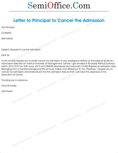 sle letter for cancellation of admission union college acceptance letter date college admission