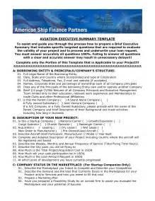 executive summary template affordablecarecat