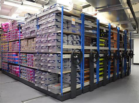 shoe box storage shelves see how shoe retailers use trimline racks to maximise