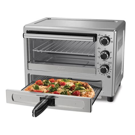 backofen schublade oster 174 stainless steel convection oven with pizza drawer
