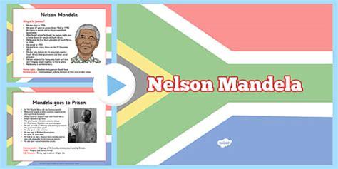 nelson mandela biography primary ks2 teaching resource nelson mandela informative powerpoint nelson mandela