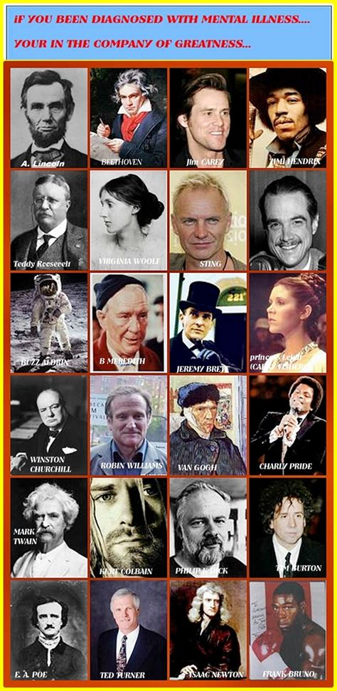 famous people with mental illness great acheivers with mental illness poster pennsylvania