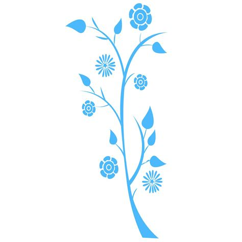 Plant Wall Sticker plant with flowers wall sticker world of wall stickers