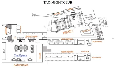 Bar Floor Plan Design by Tao Bottle Service Discotech The 1 Nightlife App