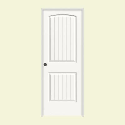 home depot 2 panel interior doors jeld wen 24 in x 80 in molded smooth 2 panel arch plank