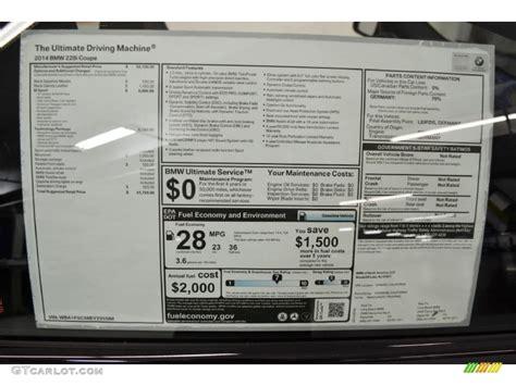 Bmw Sticker Window by 2014 Bmw 2 Series 228i Coupe Window Sticker Photos