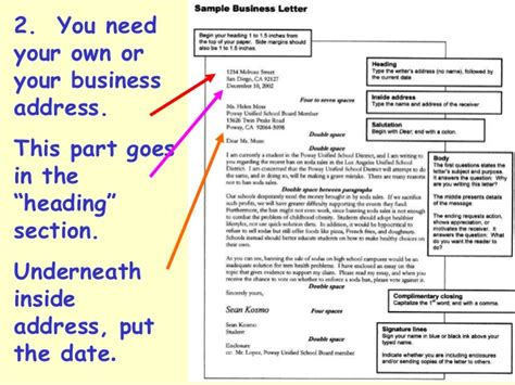 business letter where does address go business letter ppt bew mq task