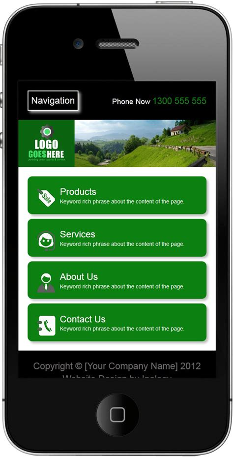 mobile site design template mobile website skin designs