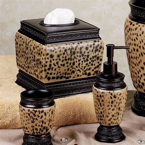 cheetah bathroom dynasty cheetah bath accessories