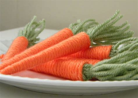 Make Yarn Baby Carrots 187 Dollar Store Crafts