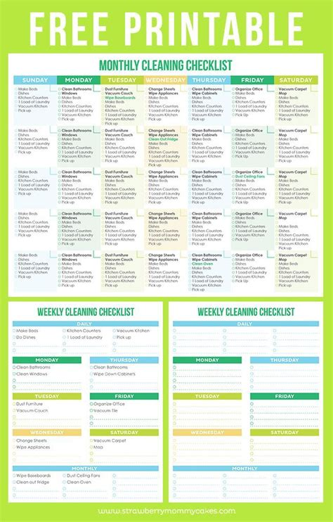 Free Printable Cleaning Schedule To Help You Maintain A Clean Home Planners Printables Free Printable Cleaning Schedule Template