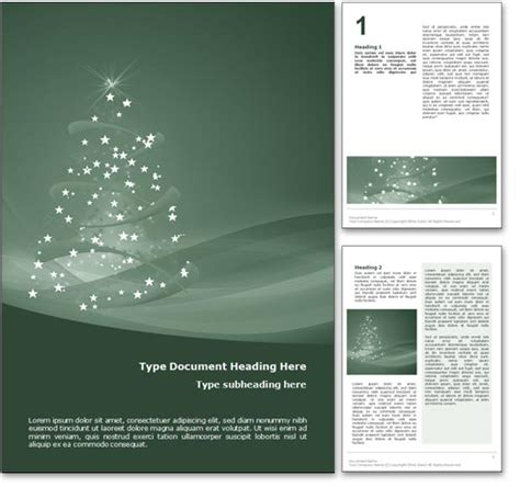 microsoft office templates for word holiday royalty free happy holidays microsoft word template in green