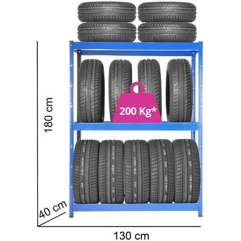 scaffali per gomme scaffali porta pneumatici in metallo 3 ripiani cm