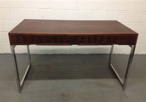 milo baughman rosewood desk milo baughman rosewood and chrome desk at 1stdibs