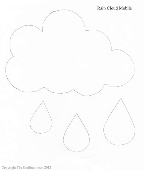 cloud raindrop templates projects to try pinterest