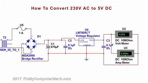 220ac To 5vdc Converter how to convert 230v ac or 120v ac to 5v dc