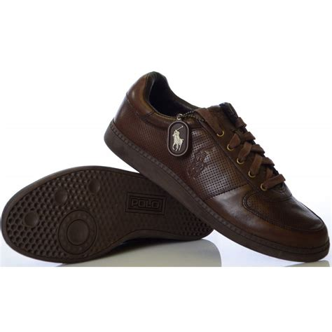 ralph shoes hernando brown burnished leather