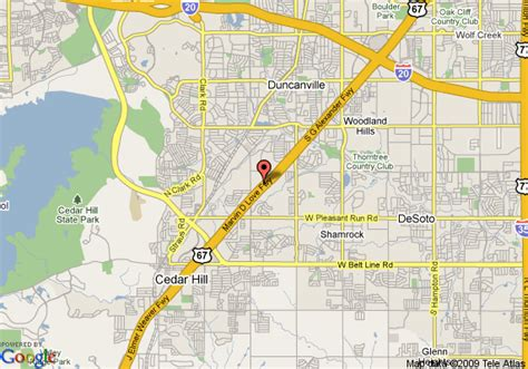 map of cedar hill texas map of ramada limited cedar hill cedar hill