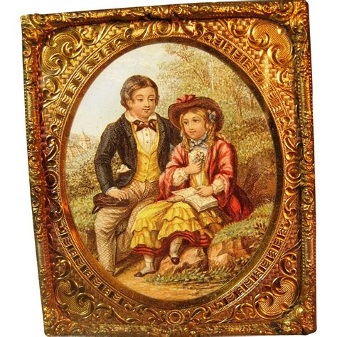 dolls house picture frames antique miniature ormolu doll house picture in ornate frame from victoriasdollhouse on