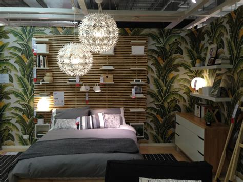 Wallpaper Ikea wallpaper installation palm leaf wallpaper brick