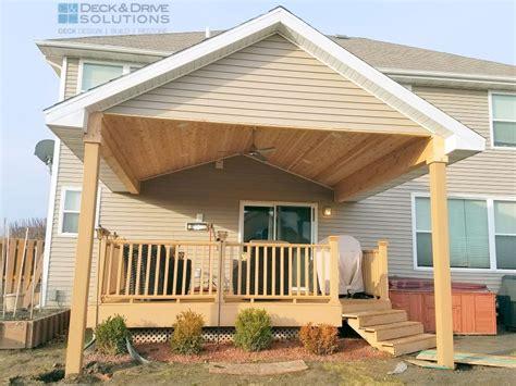 new roof existing deck des moines deck builder - Adding Roof Existing Deck