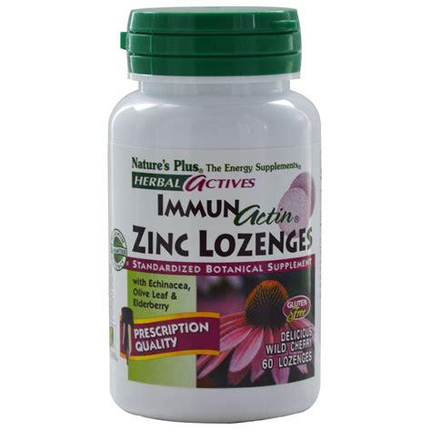 Herbal Zinc Nature S Plus Herbal Actives Immun Actin Zinc Lozenges