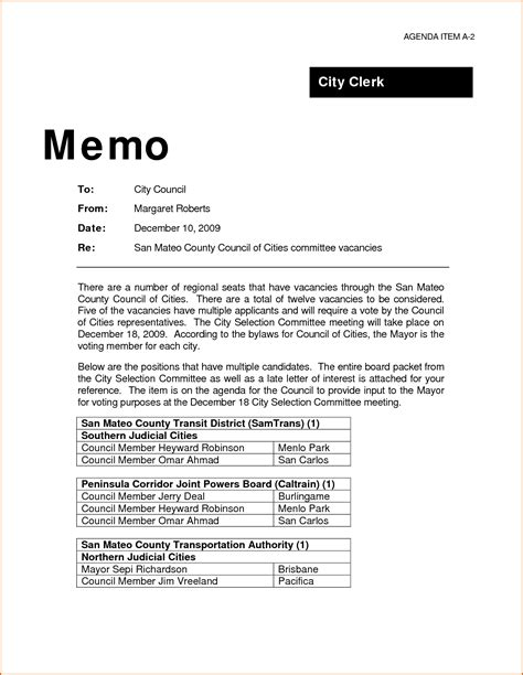 Business Letter Memo 7 professional memo format authorizationletters org