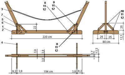 gestell selber bauen bauanleitung f 252 r ein h 228 ngemattengestell aus holz