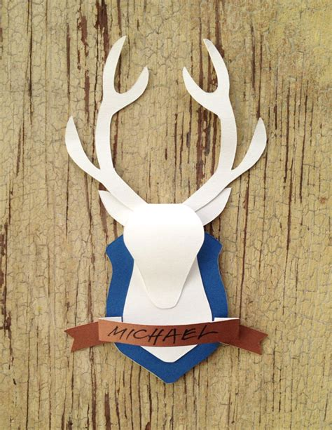 How To Make A Deer Out Of Paper Mache - mounted deer paper crafts