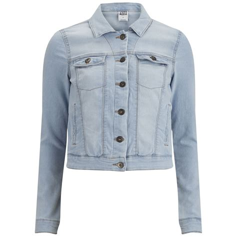 light blue denim jacket vero moda s soya denim jacket light blue denim