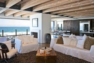 Kitchen Dining Room Living Room Open Floor Plan - celebrity malibu beach house sports the pacific for a backyard