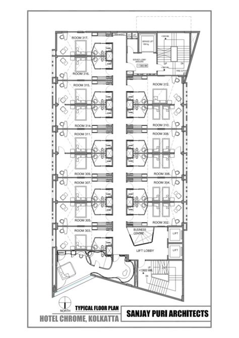 typical hotel floor plan chrome hotel sanjay puri architects archdaily