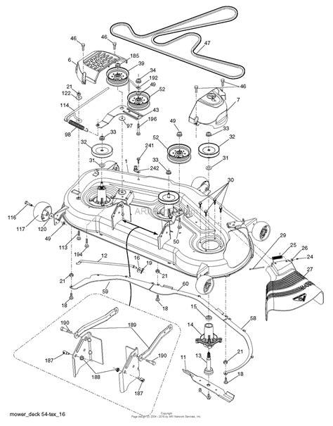 deck diagram husqvarna lgt 2654 96045003701 2012 09 parts diagram