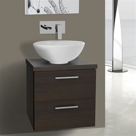 19 inch bathroom sink 19 inch wenge small vessel sink bathroom vanity wall