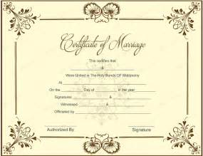 Marriage Certificate Templates by 10 Beautiful Marriage Certificate Templates To Try This Season