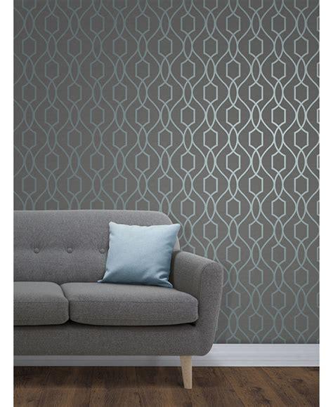 grey wallpaper trellis the apex geometric trellis wallpaper has a contemporary