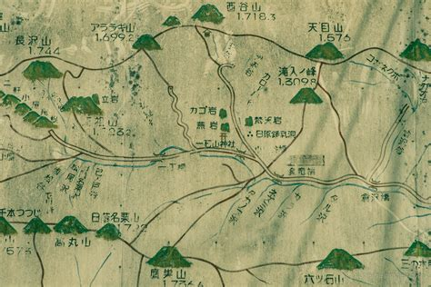 hiking maps japanese vintage hiking maps ridgeline images