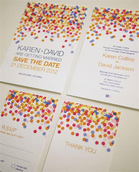 colorful wedding invitations colorful confetti wedding invitation set printable