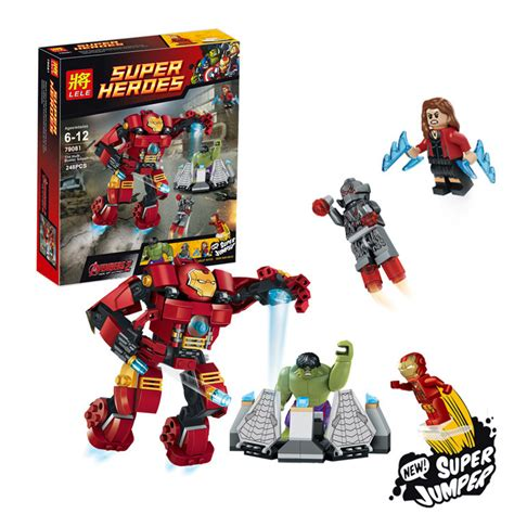 Bricks Lego Heroes Assemble Heroes Sy330 2015 new building blocks heroes age of