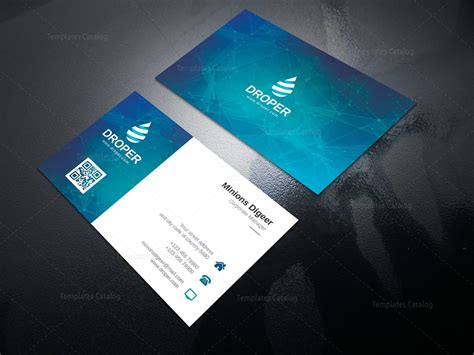 corporate business card templates neutron professional corporate business card template