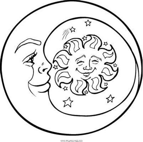 half sun coloring page sun moon coloring page kid stuff pinterest coloring