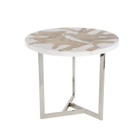 aluminum accent table aluminum teak resin accent table universal innovative