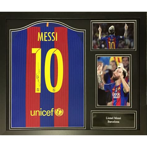 T Shirt Lionel Messi Harmony Merch lionel messi signed and framed barcelona shirt iwoot