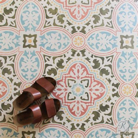 pattern works design studio large diy tile stencils for painting walls and floors