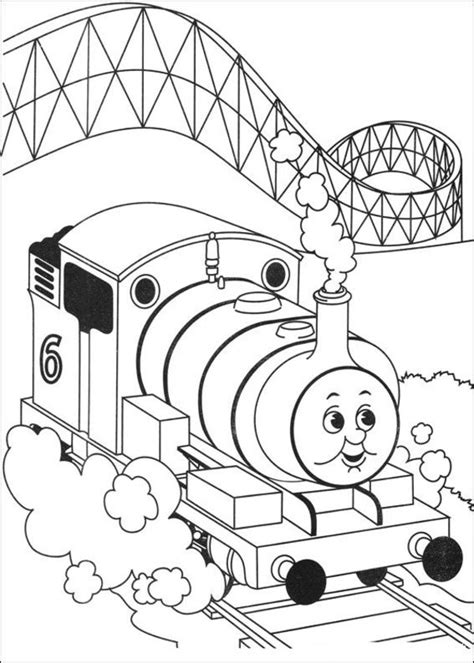 free coloring pages of thomas the tank engine