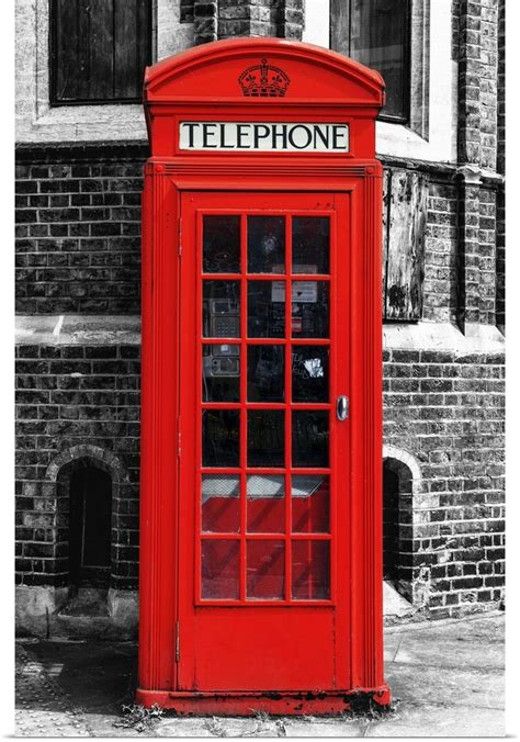 london phone booth poster print wall art entitled red phone booth in london