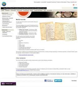 Belfast Records Belfast City Council Burial Records The Archives Genealogy Links Directory