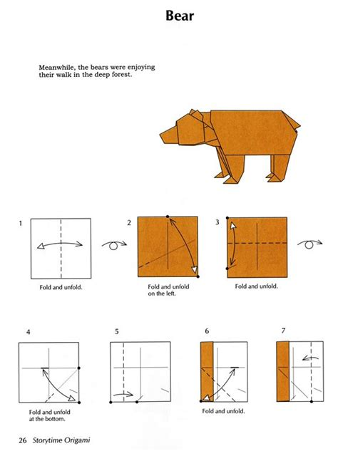 Origami Bears - 25 best ideas about origami patterns on