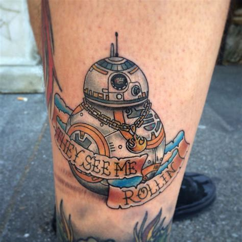 tattoo shops vacaville new wars bb 8 droid from episode 7 by matt robinson